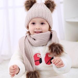 Шапки детские зимние вязаные