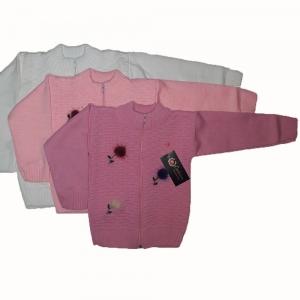 """Кофта вязаная плотная """"Пушок"""" (3-4 года и 5 лет) для девочек"""