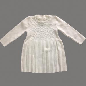 Платье-плиссе «Бантики в ромбе» 1,5-2 года