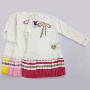 Платье-плиссе «Бантик-сердечко» 3-4 года