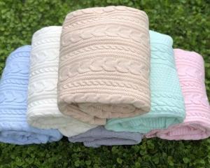 "Плед - одеяло ""Премиум2"" (размер 100х100см) 4 нитки европряжа (комплект10шт)"
