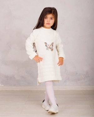 Платье вязаное «FA6065» 5-7 лет (упаковка 3 шт.)