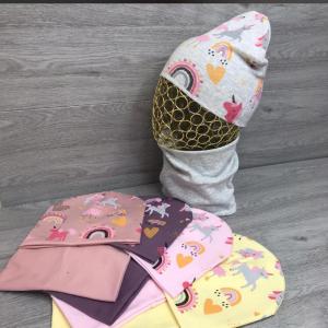 Набор детский (шапка + снуд)(возраст: 7-10 лет )