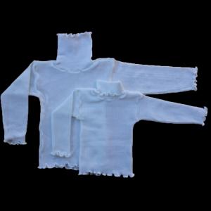 Водолазка универсальная детская вязаная белая (3 размера) 2-3,4-5,5-6,7-8