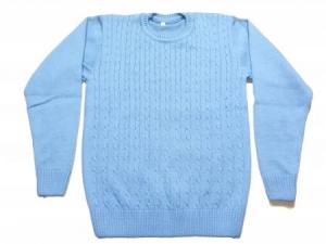 Вязаный свитер Косичка размерный ряд 36,38,40,42,44