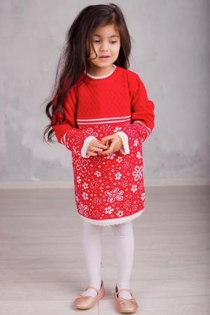 Платье вязаное «FA6068» 5-7 лет (упаковка 3 шт.)
