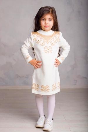 Платье вязаное «FA6069» 5-7 лет (упаковка 3 шт.)