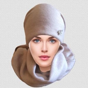 """Комплект  женский  вязаный зимний """"V26"""""""